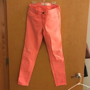 Coral Abercrombie jeans